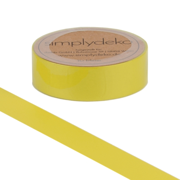 Masking Tape Washi-Tape Gelb Lemon Yellow