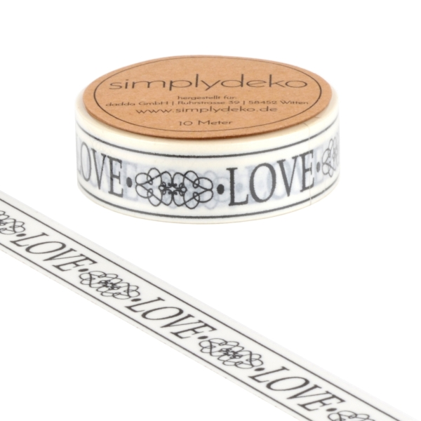 Masking Tape Washi-Tape Sprüche Love