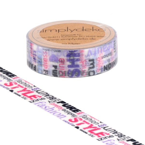 Masking Tape Washi-Tape Sprüche Fashion Style