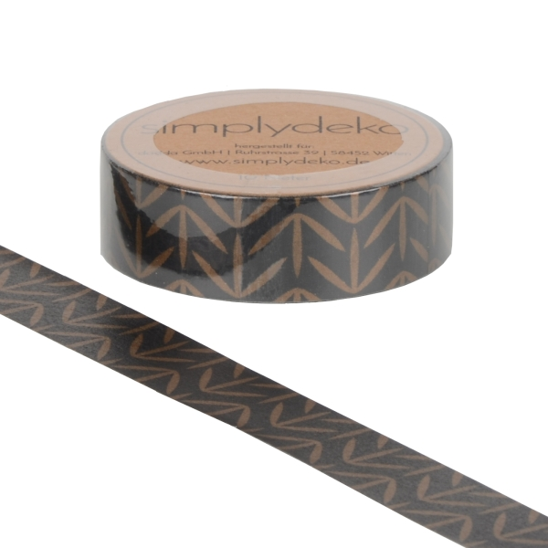 Masking Tape Washi-Tape Black Copper