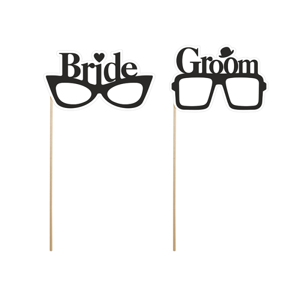Photo Booth Props Bride and Groom