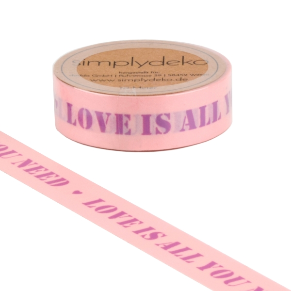 Masking Tape Washi-Tape Sprüche Love is all you need