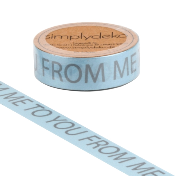 Masking Tape Washi-Tape Sprüche From Me to You