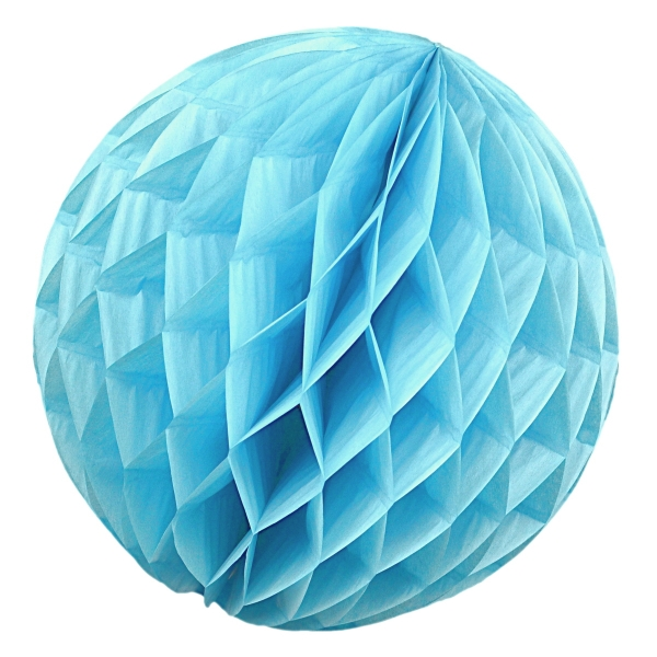 Wabenball Honeycomb-Lampion in Hell-Blau