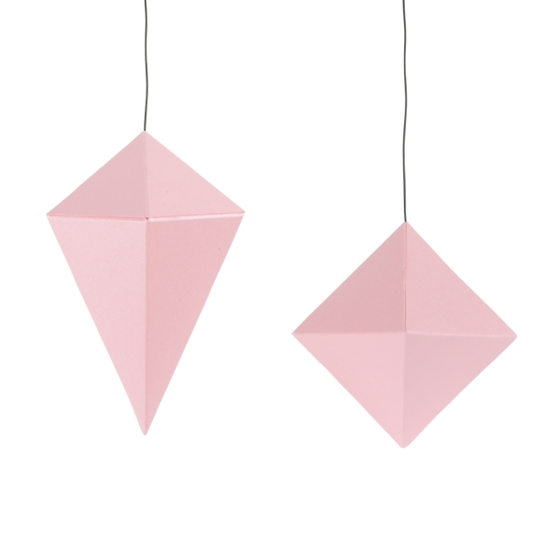 DIY Papier Diamanten Kristalle Set in Rosa-Metallic