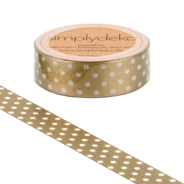 Masking Tape Washi-Tape Pünktchen Gold