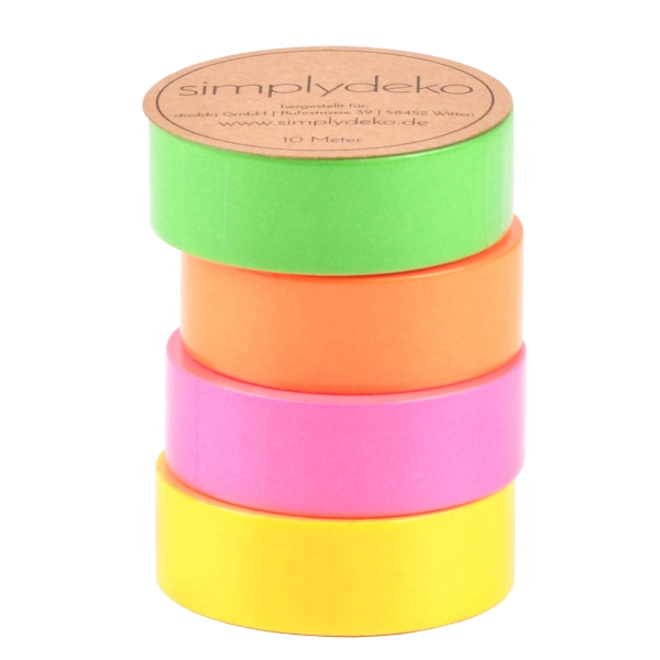 Masking Tape Washi-Tape Set Neon