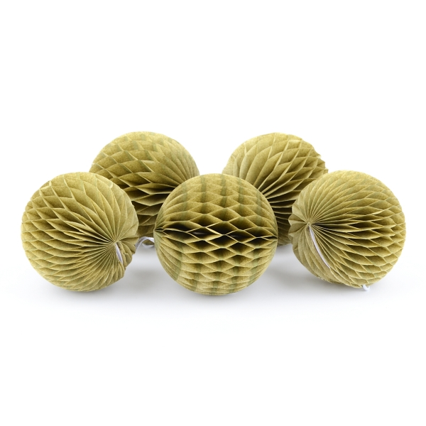 Mini-Wabenball-Set in Vintage Gold