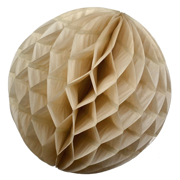 Wabenball Honeycomb-Lampion in Beige Creme Sand