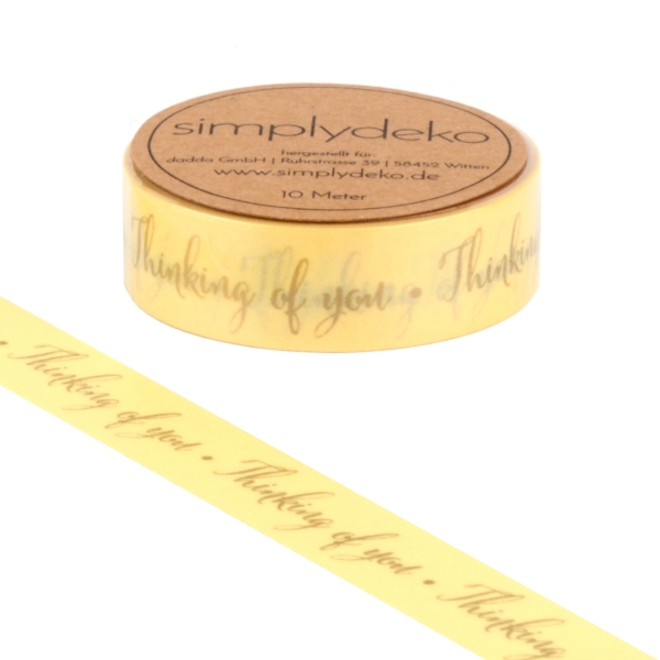 Masking Tape Washi-Tape Sprüche Thinking of you