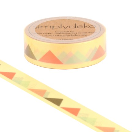 Masking Tape Washi-Tape Wimpel in Gold