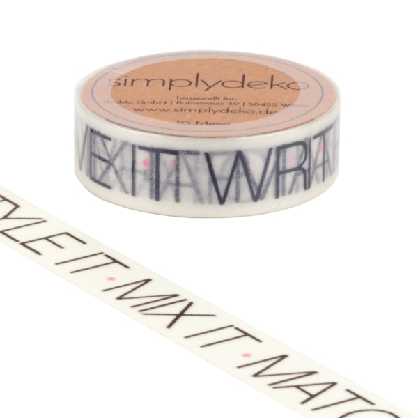Masking Tape Washi-Tape Sprüche Wrap it Style it