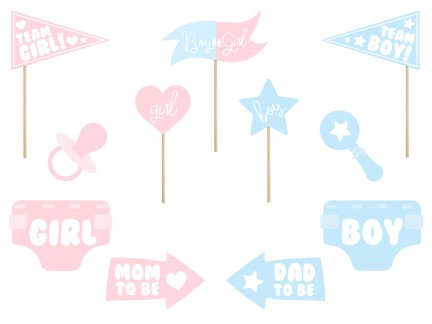 Photo Booth Set Gender Reveal Party